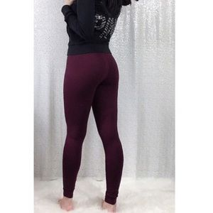PINK Victoria Secret RARE Cotton Legging in Plum